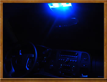 Blue Interior LED Dome Lights