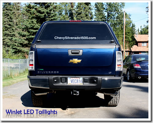 WinJet 2007-2011 Chevy Silverado LED Tail Lights